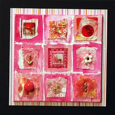 e57b04f6b76 Serendipity...paper and embellishments on canvas Nancy Curry Curry