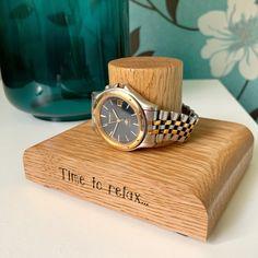 Watch Holder, Watch Display, Wooden Watch, Handmade Wooden, Solid Oak, Watches, Gifts, Wood Watch, Wrist Watches