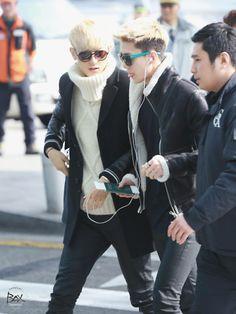 Sehun and Tao airport fashion