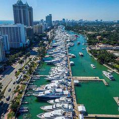 Ready for the annual Yachts Miami Beach by Miami's premier luxury yacht show from February Florida Home, Miami Florida, South Florida, Miami Beach, San Diego, San Francisco, Orlando, San Antonio, Nashville