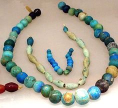 Necklace, ball beads  Period: Middle Kingdom–Early New Kingdom Dynasty: Dynasty 11–18 Date: ca. 2124–1504 B.C. Geography: Egypt, Upper Egypt; Thebes, el-Asasif, Tomb MMA 800 group, MMA 1929-1930