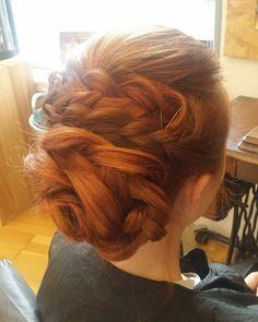 Hair up. Wedding hair