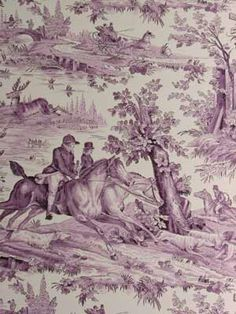 Purple toile. So French So chic!