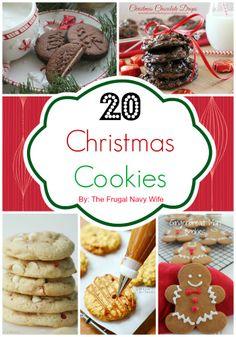 20 Christmas Cookies Round up #christmas #cookies #recipe