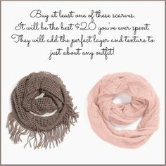 These scarves are only $20 and they are perfection.  I'd say you need one of them, but that would be a lie.  You need both of them.