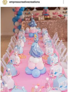 Cinderalla Inspired Birthday Party Table Setting and Decor