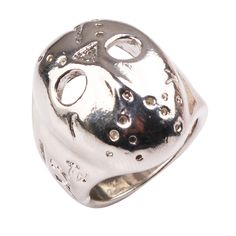 Hot Sell Black Friday Hockey Jason Mask SKull Ring Size6-12 #Affiliate