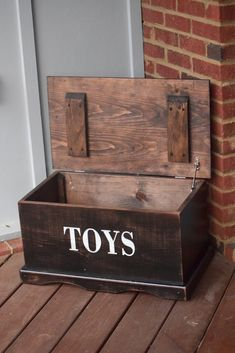Items similar to Kids Toy Box - Wooden Box - Keepsake Box - Memory Box - Kids Memory Box - Wooden Toy Chest - Toy Box - Personalized Toy Box - In Memory Box on Etsy Kids Woodworking Projects, Woodworking Plans, Woodworking Shop, Woodworking Basics, Woodworking Classes, Youtube Woodworking, Workbench Plans, Wooden Toy Chest, Wooden Toy Boxes