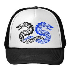 Awesome Tribal Dragon tattoo design Trucker Hat | Zazzle Trucker Tattoo, Dragon Tattoo Designs, Life Tattoos, Tattoos For Women, Awesome, Hats, Hat, Female Tattoos, Hipster Hat