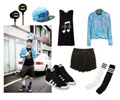 """EXO Chanyeol Inspired Outfit"" by nanrelladu ❤ liked on Polyvore featuring The People of the Labyrinths, adidas, Boohoo, The Ragged Priest, Full Tilt, Kenzo, outfit, Inspired, EXO and chanyeol"