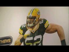 Clay Matthews - Greatness a great commercial and I got the decals as a gift!  Going up on my ceiling so I can fall asleep being sacked by Clay Matthews!