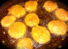 Pholourie getting happy - Whole Wheat Flour, Split Pea Flour, Cumin, Curry Powder, Tumeric, Sea Salt, Yeast, Baking Powder, House Seasoning Blend, Garden Peppers.     Pholourie are basically little balls of split pea flour or flour seasoned and deep fried and served with a thin sweet chutney- Condiments and Sauces (usually mango or tamarind). You can buy them in little paper bags in Trinidad with the Condiments and Sauces in a little plastic bag included.