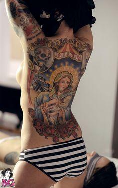 ★ Religious Theme Back Tattoo ★