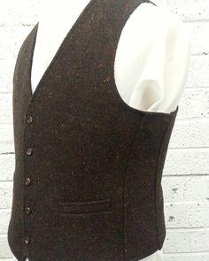 Made to measure Donegal tweed waistcoat Tweed Waistcoat, Donegal, Mens Suits, Menswear, How To Wear, Dress Suits For Men, Men's Suits, Men Wear