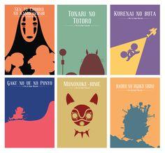 Hayao Miyazaki Movie Posters on Behance