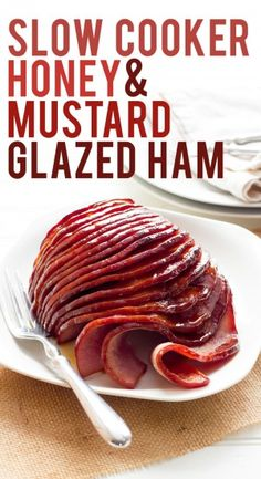 Slow Cooker Honey-Mustard Glazed Ham. Made this glaze for Christmas dinner. I put it in the oven, covered with foil. The flavor is amazing! Ham was tender and delicious.
