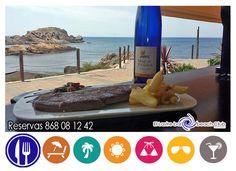 ...este fin de semana, me apetece ir a la playa y comerme un buen filete con un vinito blanco bien fresco, en primerísima linea de mar ...¿ y a ti? reservas 868 08 12 42