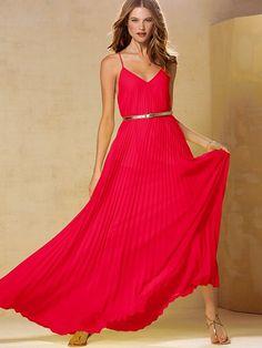 NEW!  Knife-pleat Maxi Dress #VictoriasSecret http://www.victoriassecret.com/clothing/maxi-dress/knife-pleat-maxi-dress?ProductID=90726=OLS?cm_mmc=pinterest-_-product-_-x-_-x