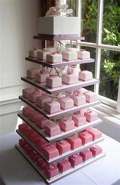 Mini Wedding Cakes, Wedding Cakes With Cupcakes, Wedding Desserts, Cupcake Cakes, Wedding Decorations, Wedding Cake Pops, Wedding Ideas, Mini Cakes, Birthday Decorations