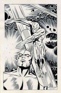 Silver Surfer by Ron Frenz & Joe Sinnott (after Kirby)