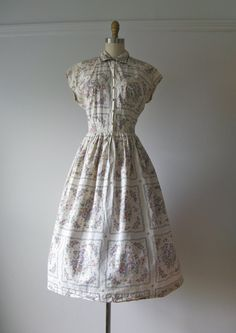 vintage 1950s cotton day dress