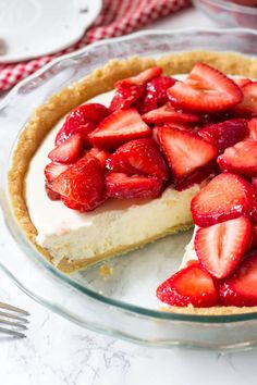 This strawberry cream cheese pie has a deliciously creamy filling and tons of fresh strawberries. It's an easy, no bake pie recipe that's perfect for warm weather – and everyone goes crazy over the delicious strawberries and cream combo. If you love juicy berries and fluffy, creamy filling – then this strawberry cream cheese pie …