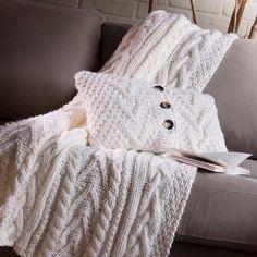 Manta de tricô para poltrona e sofá
