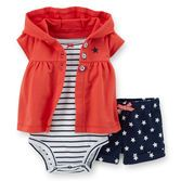 Red, white and blue make this cute outfit perfect for her 4th Of July festivities!