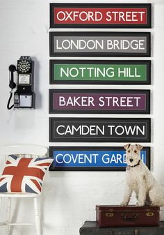 Large London Landmark Street Signs  by The Contemporary Home  $64.72