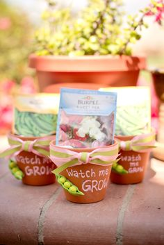 cute party favors for garden theme/pink & green parties or baby showers - by ShiftingStatusKuo.com & photography by SoWen Photography