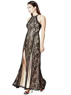 Alina Sleeveless Lace Maxi Dress at Guess Lace Dress, Lace Maxi, Mode Glamour, Sexy Dresses, Night Out, Lifestyle, Clothes For Women, Womens Fashion, Shopping