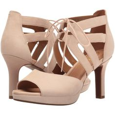 b779c1fa9267 Clarks Mayra Ellie (Nude Suede) Women s Sandals ( 66) ❤ liked on Polyvore