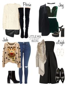 """""""*REQUESTED* LM Inspired for a Christmas Party"""" by littlemix-styleblog ❤ liked on Polyvore featuring moda, Topshop, Parisian, River Island, UNIF, Yves Saint Laurent y Forever 21"""