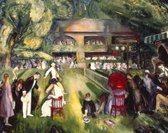 George Bellows / Tennis at Newport (1920)