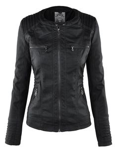 LL Womens Removable Hoodie Motorcyle Jacket XS BLACK
