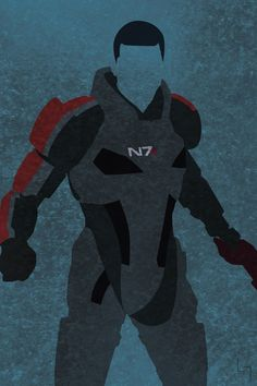 Commander Shepard Minimalist Poster