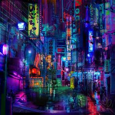 Neo Tokyo Tapestry - Large - 96 x 96