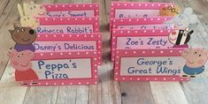 Peppa Pig Food Labels by ThePrettyPartyShop on Etsy Más