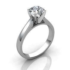 2 Ct Brilliant Round Cut Solitaire Diamond Engagement Ring 14k Solid White Gold #JewelsForum #Solitaire