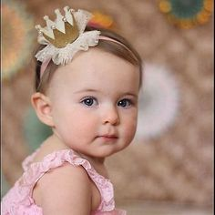 crown hairstyles - Little Princess Crown Headband 1st Birthday Photoshoot, 1st Birthday Party For Girls, Baby Birthday, Birthday Parties, Baby Crown Headband, Baby Headbands, Tiara Headbands, Tiara Hair, Hair Crown