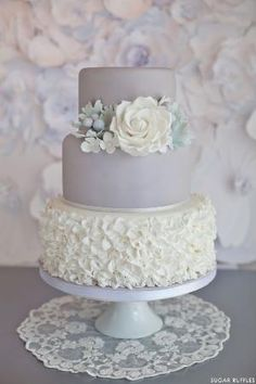 Dove Grey Wedding Cake   by Sugar Ruffles. Not in the market for a wedding cake but man this is lovely. by jodi