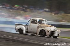 The Drift Truck - Speedhunters 1949 Chevy Truck, Classic Chevy Trucks, Chevrolet Trucks, Classic Cars, Hot Rod Trucks, Old Trucks, Drift Truck, Drifting Cars, Chevy Pickups