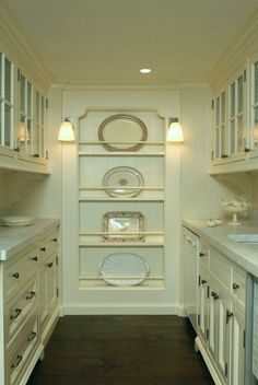could platter storage be made as inserted panel? back wall of scullery. Top 25 Must See Kitchens on Pinterest - laurel home