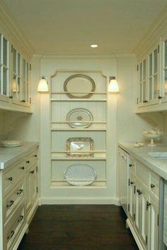 Pantry design - Clever kitchen storage - Butler pantry - New homes - Un. Unfitted Kitchen, Kitchen Butlers Pantry, Butler Pantry, New Kitchen, Kitchen Decor, Kitchen Ideas, Kitchen Tables, Kitchen Display, Display Wall