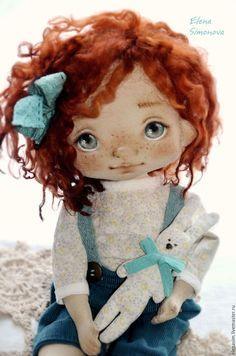 Коллекционные куклы ручной работы. Ярмарка Мастеров - ручная работа. Купить Ангелина. Handmade. Морская волна, интерьерная кукла