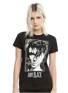 "Fitted black tee from Andy Black with a portrait style image design on front that reads ""We Don't Have To Dance.""<br><ul><li style=""list-style-position: inside !important; list-style-type: disc !important"">100% cotton</li><li style=""list-style-position: inside !important; list-style-type: disc !important"">Wash cold; dry low</li><li style=""list-style-position: inside !important; list-style-type: disc !important"">Imported</li><li style=""list-style-position: inside !important; list-style-type…"