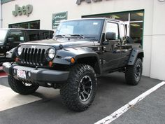 Jeep JK-8 pickup conversion on Wrangler Unlimited with 3-inch lift.
