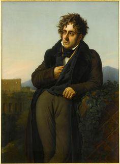 Portrait of François-René de Chateaubriand (1768-1848) ~ Anne Girodet de Roucy-Trioson ~ (French, 1767-1824)