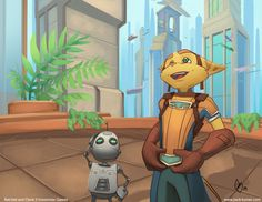 Five O'Clock Fan Art: Ratchet and Clank | RipTen Videogame Blog
