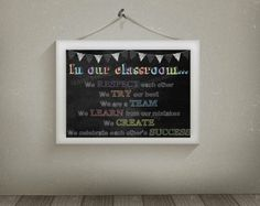 In Our Classroom Class Rules Printable Wall by ClairesChalkboards